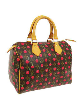 Louis Vuitton Speedy 25 Hand Bag Sp1024 Monogram Cherry Murakami M95009 A46189 by Louis Vuitton