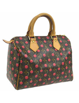 Auth Louis Vuitton Speedy 25 Hand Bag Monogram Cherry M95009 Murakami A43789 by Louis Vuitton