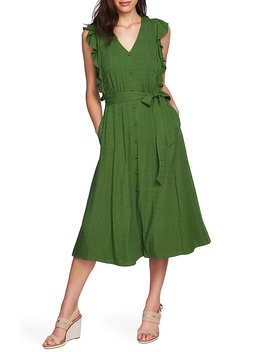 Ruffle Tie Waist Midi Dress by 1.State