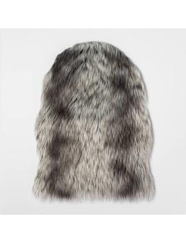 Faux Sheepskin Oversize Pelt Gray   Threshold by Threshold
