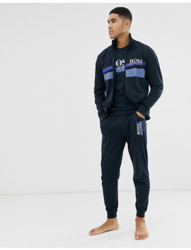 Boss Bodywear Authentic Crew Neck Sweat In Navy by Boss