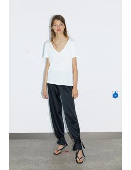 V Neck Tshirt Basics Trf by Zara
