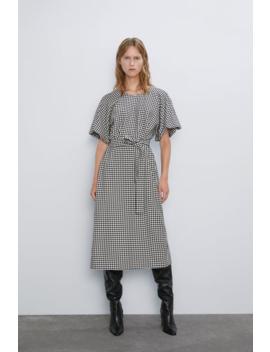 Vestido Pata De Galo Ver Tudo Vestidos Mulher by Zara