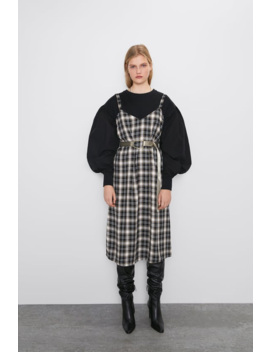 Vestido Estilo Lingerie Quadrados Ver Tudo Vestidos Mulher by Zara