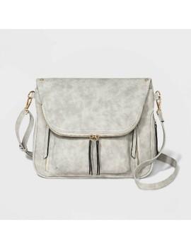 Vr Nyc Kimmie Zippered Pocket Crossbody Bag   Gray by Gray