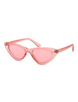 Hot Triangle Stylish Vintage Punk Sunglasses   Light Pink by Zaful