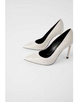 Leather High Heel Shoes  Wedges Shoes Woman by Zara