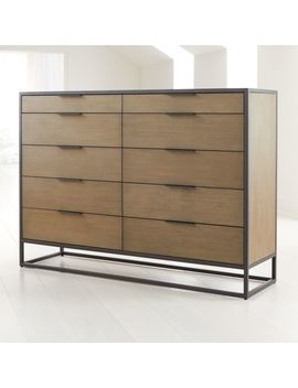 Oxford Shale 10 Drawer Tall Dresser by Crate&Barrel