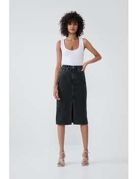 Denim Midi Skirt View All Skirts Woman by Zara