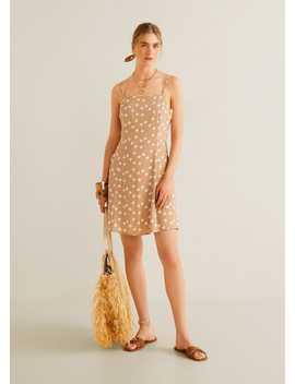 Φόρεμα εμπριμέ ασορτί λαστιχάκι by Mango