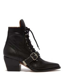 Rylee Grained Leather Ankle Boots by Chloé