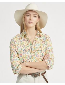 Floral Cotton Military Shirt by Ralph Lauren