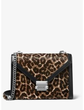 Whitney Large Leopard Calf Hair Convertible Shoulder Bag by Michael Michael Kors