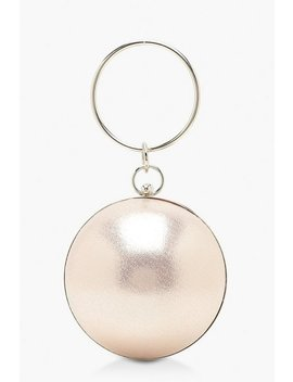 Metallic Sphere & Ring Handle Bag by Boohoo