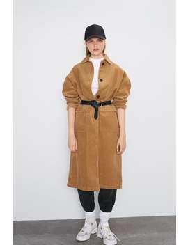 Corduroy Coat With Pockets Coatswoman by Zara