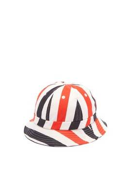 Striped Cotton Canvas Bucket Hat by Holiday Boileau