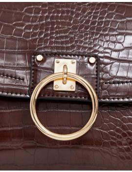 Asos Design Croc Satchel With Ring Detail by Asos Design