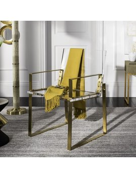 Safavieh Couture Langston Abstract Glam Acrylic Arm Chair by Safavieh