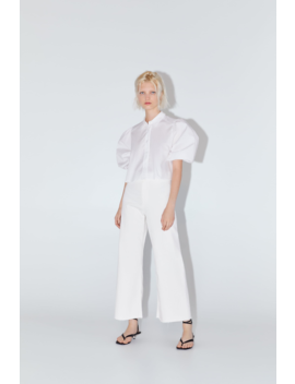 Cropped Poplin Blouse View All Shirts by Zara
