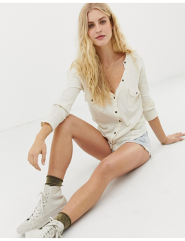 Free People Starlight V Neck Henley Top by Free People