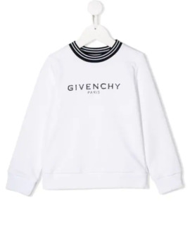 Distressed Logo Sweatshirt by Givenchy Kids