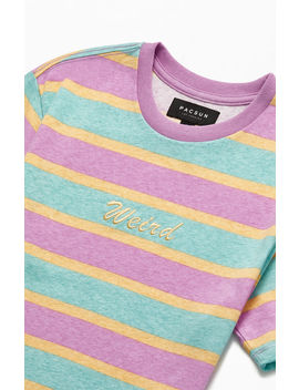 Pac Sun Weird Striped T Shirt by Pacsun