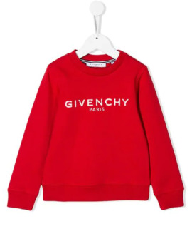 Aged Logo Sweatshirt by Givenchy Kids
