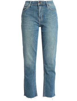 Joey Cropped High Rise Straight Leg Jeans by Current/Elliott
