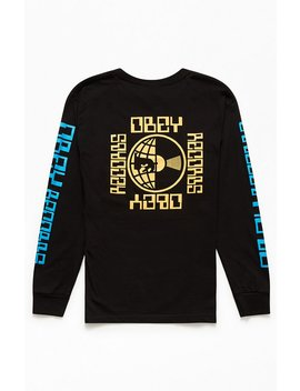Obey Worldwide Records Long Sleeve T Shirt by Pacsun