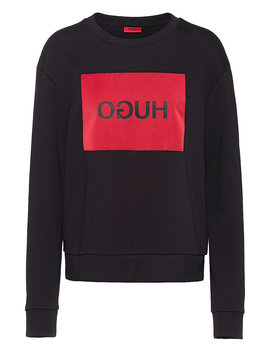 Relaxed Fit Sweatshirt With Reverse Logo Patch by Boss