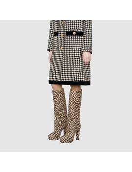 Platform Boot With G Rhombus by Gucci