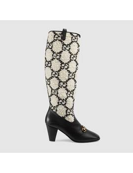 Gucci Zumi Gg Tweed Knee Boot by Gucci