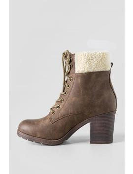 Carol Lace Up Boot by Francesca's