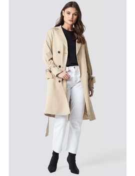 Belted Trench Coat Beige by Na Kd