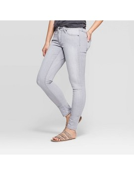 Women's Mid Rise Skinny Jeans   Universal Thread Gray by Rise Skinny Jeans