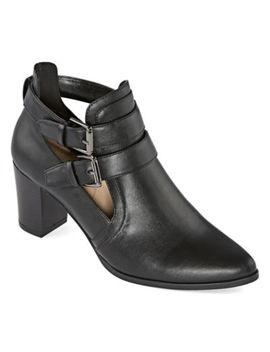 Liz Claiborne Womens Camelia Block Heel Booties by Liz Claiborne
