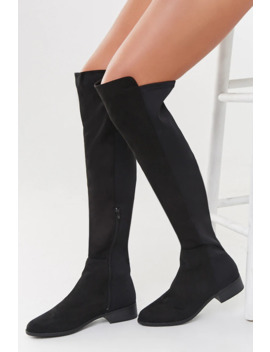 Combo Over The Knee Boots by Forever 21