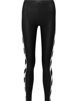 Striped Stretch Leggings by Off White