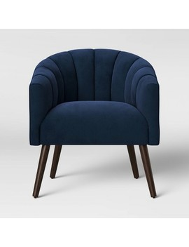 Gwynne Modern Barrel Chair With Channel Seams Velvet   Project 62 by Project 62