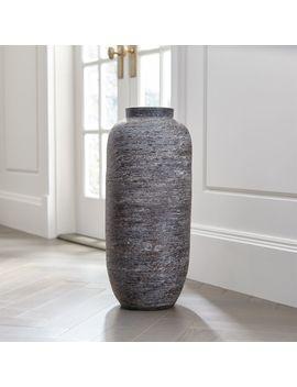 Timber Grey Floor Vase by Crate&Barrel