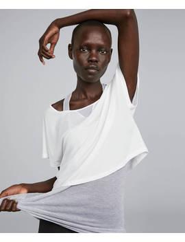 Tricou Double Layer Din Poliamidă Reciclată by Oysho