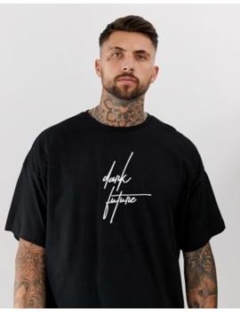 """Asos Design – Oversize T Shirt Mit """"Dark Future"""" Logo by Asos"""