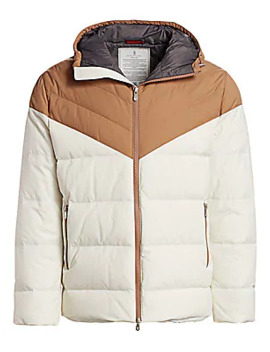 Spa Two Tone Nylon Hooded Puffer Jacket by Brunello Cucinelli