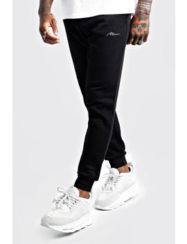 Man Signature Slim Fit Joggers by Boohoo