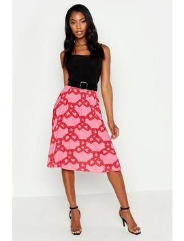 Chain Print Midi Skirt by Boohoo