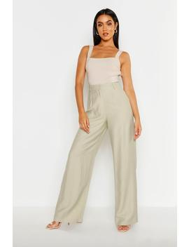 Linen Look Relaxed Trouser by Boohoo