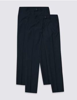 2 Pack Girls' Skinny Leg Trousers by Marks & Spencer