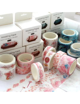 3 Pcs/Pack Pink Cloud Unicorn Decorative Washi Tape Adhesive Tape Diy Scrapbooking Sticker Label Masking Tape by Ali Express.Com