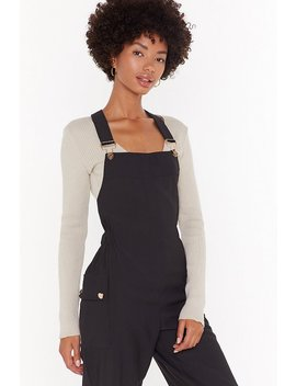 Work For It Cropped Dungarees by Nasty Gal