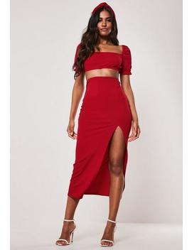 Milkmaid Top Side Split Midaxi Skirt by Missguided